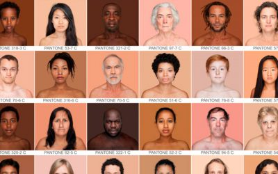 Diferentes tipos de color de piel humana